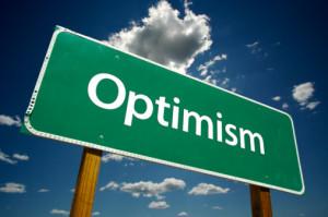 Optimism Road Sign
