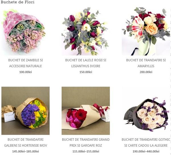 buchete de flori realizate de floraria online the flower society